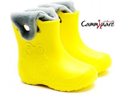 CAMMINARE G001 zateplené sněhule/gumáky žluté