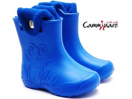 CAMMINARE G005 zateplené sněhule/gumáky modré