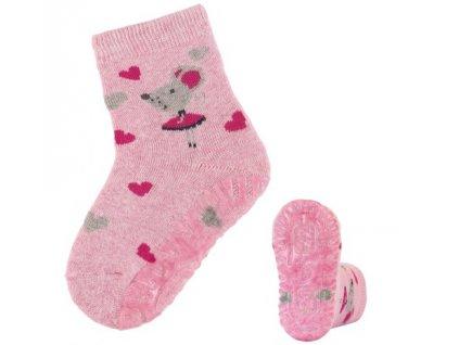 Protiskluzové ponožky STERNTALER 8142014 rosa