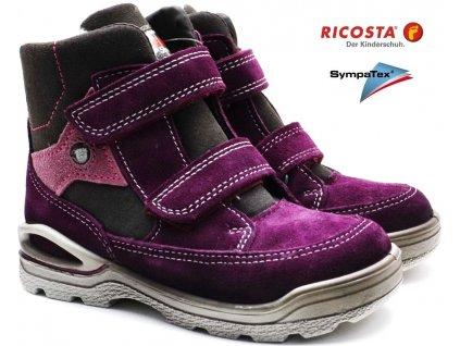 Zimní boty RICOSTA 39309 fialové