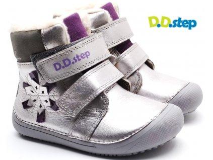 Zimní boty DDstep 063-915A M+ stříbrná