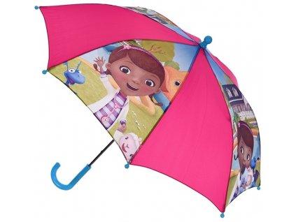 Deštník dětský DOKTORKA Sc 4322 malinový - tyrkys. ruk