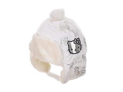 Zimní čepice HELLO KITTY hm 4010 bílá