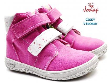 Zimní barefoot boty JONAP B4 růžové
