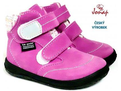 Zimní barefoot boty JONAP B5 růžové