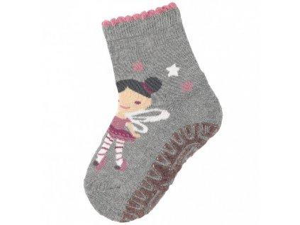 Protiskluzové ponožky STERNTALER 8131912 silber