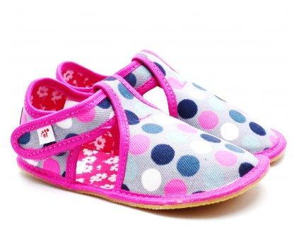Dětské barefoot bačkory EF BAREFOOT 385 Kropy