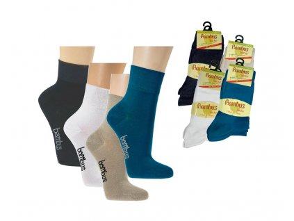 Bambusové ponožky Socks4fun 2171 černé