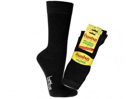 Bambusové ponožky Socks4fun 2272 černé