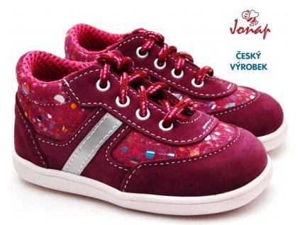 Dětské boty JONAP 051/S vínové