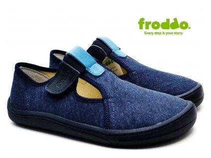TEXTILNÍ BAREFOOT FRODDO G1700284 dark blue