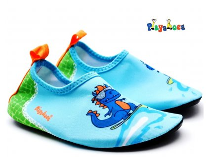 Barefoot boty do vody Playshoes 174918 Dino