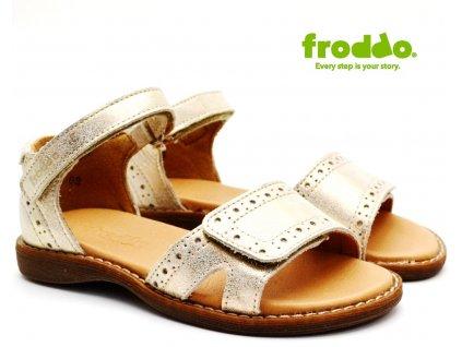 Dívčí sandále FRODDO G3150176-3 Gold