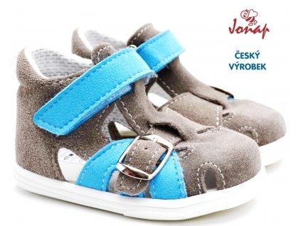 Dětské sandále JONAP 727250-009s šedomodrá