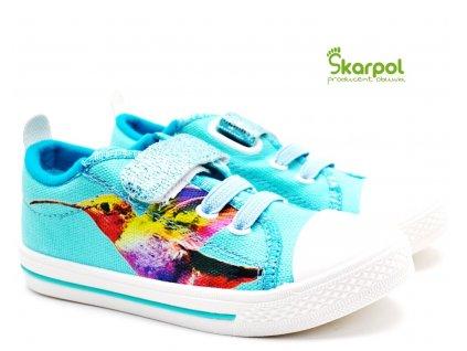 SKARPOL textilní obuv ZEFIR Kolibřík
