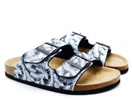 Bio pantofle WALKER 704509 černé
