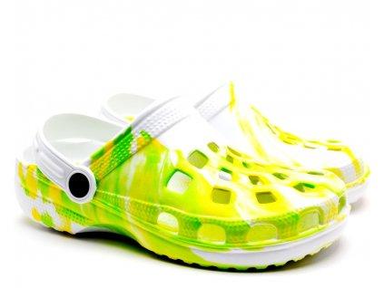 CLOG Sandály 54-0615-Y1 zelenobílé