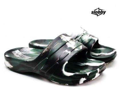 Dětské pantofle SLOBBY 182-0000 černobílé