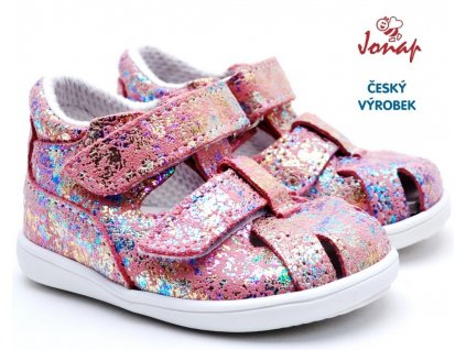 Dětské sandály JONAP 041S růžová tisk