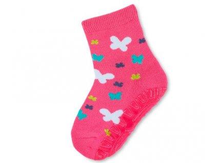 Protiskluzové ponožky STERNTALER 8032108 pink