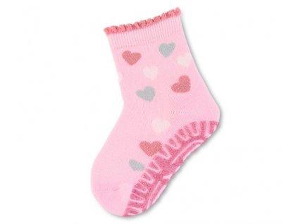 Protiskluzové ponožky STERNTALER 8032110 rosa