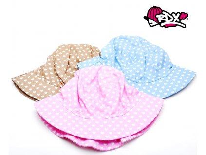 Dívčí klobouček RDX 7738 Srdíčka