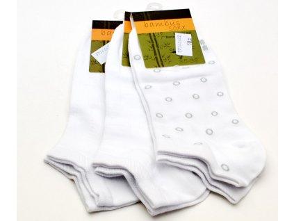 Bambusové ponožky BAMBUS SOXX bílé