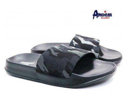 Pantofle American Club 116108 bíločerné