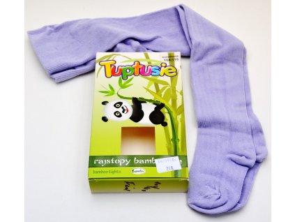 Bambusové punčocháče Tuptusie sv. fialové