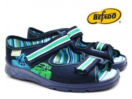 Chlapecké sandály BEFADO 969Y073 Auta