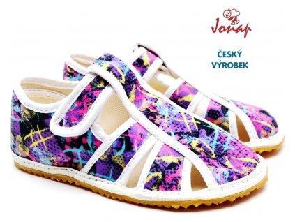 Dětské barefoot bačkory JONAP HOME barevné