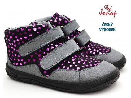 Dětské barefoot boty JONAP BELLA S srdce
