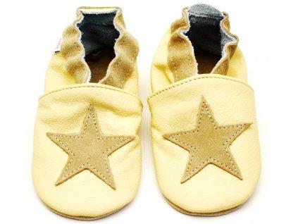 Dětské capáčky TUPTUSIE Béžové hvězdy