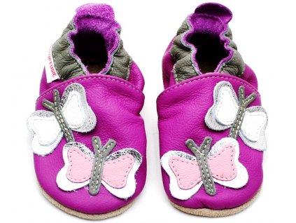 Dětské capáčky TUPTUSIE Růžové motýlci