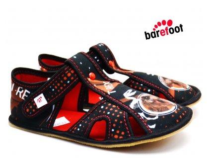 Dětské barefoot bačkory EF BAREFOOT 395 Rex