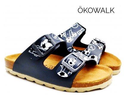 Chlapecké pantofle OKOWALK MATCHBALL tm. modré