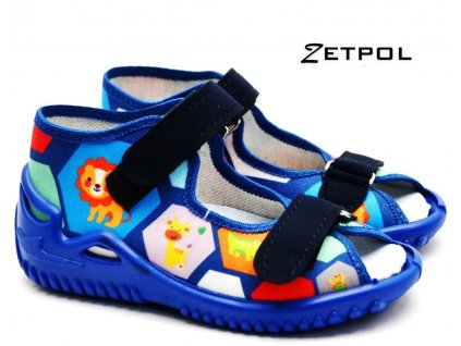 Dětské bačkory ZETPOL OLIWIER 1337 modré