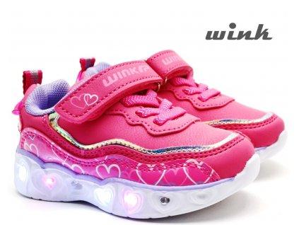 Blikající boty WINK FE12528 růžové