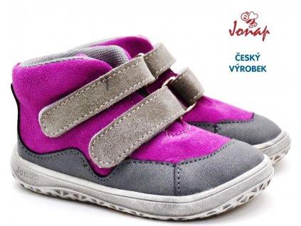 Dětské barefoot boty JONAP BELLA s růžová
