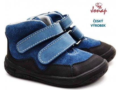 Dětské barefoot boty JONAP BELLA s modrá riflová