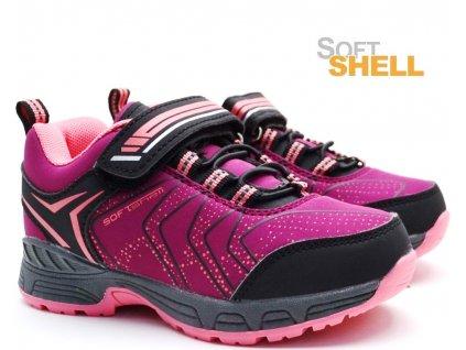 ALPINEX A221015B Softshell obuv fuxia