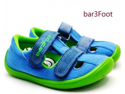 Barefoot sandále 3F 3BE25/2R modrozelené