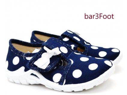 Barefoot bačkory 3F 3BT13/6 puntík