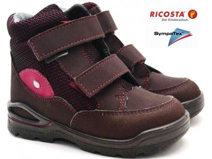Zimní boty RICOSTA 39323 384 brombeer