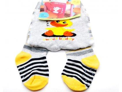 Dětské punčocháče s ABS Kačenka