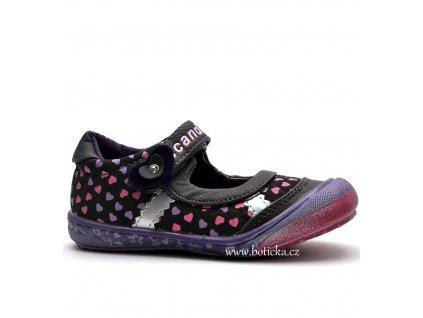 SCANDI balerínky 42-0255 fialové