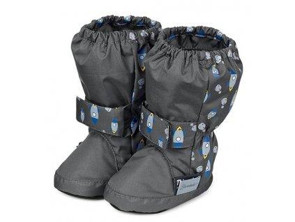 Voděodolné teplé boty STERNTALER šedé