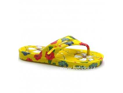 Dívčí žabky MAGNUS 54-0902 žluté