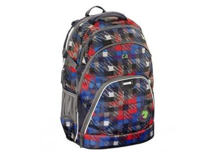 Studentský batoh HAMA Coocazoo EvverClevver Dope Square Red