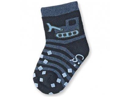 STERNTALER Protiskluzové ponožky navy